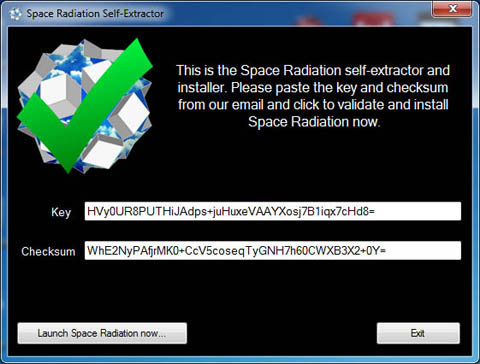 Space Radiation self-extractor after installation